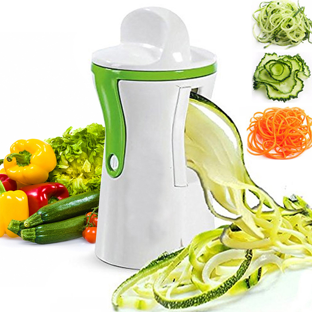 Vegetable Spiralizer Handheld Spiral Cutter Graters Carrot Cucumis Sativus Slicer Spaghetti Pasta Kitchen Cooking Tools K0460