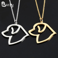 Newfoundland Necklace Hollow Dogs Necklaces & Pendants Stainless Steel Choker charms Statement Women nc