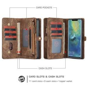 Image 2 - Pour Coque Huawei P30 Lite étui de luxe à fermeture éclair portefeuille Folio couverture magnétique étui en cuir véritable pour Huawei P20 Lite P30 Pro P20