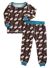 CANIS Brand Cute Sleepwear 2pcs Cotton Infant Baby Girl Boy Deer Pajamas Set Sleepwear Nightwear Christmas Clothes 1-5T