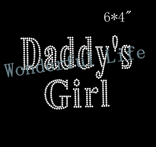 Wonderful life Wholesale free shipping daddy s girl image 4PCS lot hotfix  Rhinestone Transfer Iron On Hotfix Image Design-in Rhinestones from Home    Garden ... 65367c7ed788