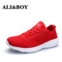 ALIBOY Barefoot Red Women Shoes Sneakers Comfortable White Sport Running Shoes Athletic Outdoor Walking Basket Femme