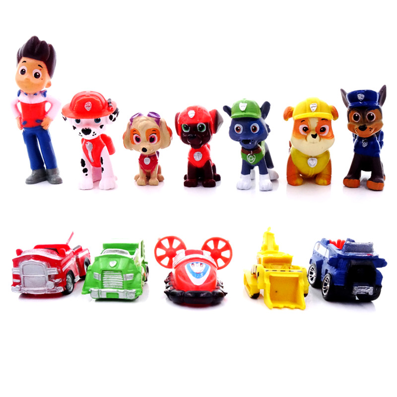 12pcs/set Paw Patrol Rescue Dog Dolls Ryder PVC Anime Action Figure High Quality Model Decoration Toy Child Birthday Xmas Gifts
