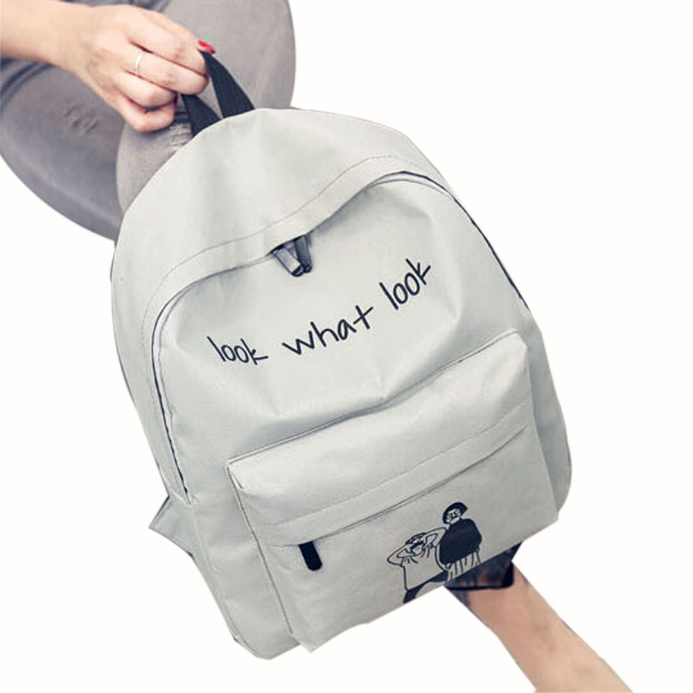 84d7d844a351 Fashion Canvas Printing Backpack Women School Bags for Teenage Girls ...