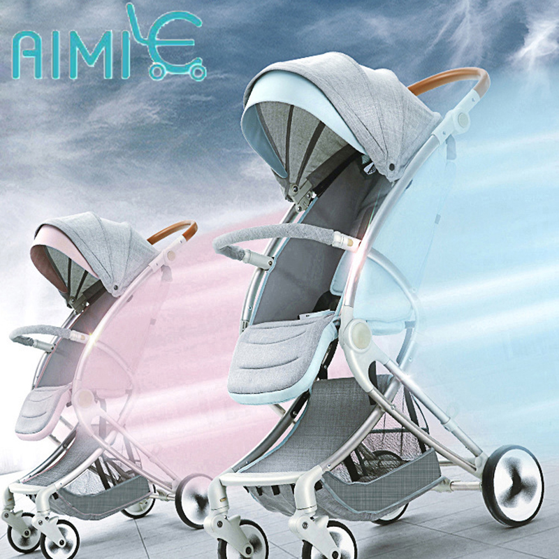 teknum baby stroller light folding umbrella car can sit can lie ultra-light portable on the airplane baby stroller ultra portable umbrella car baby winter summer hand can sit and lie folding child baby car suspension