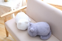 Simple Cat Shaped Plush Pillow