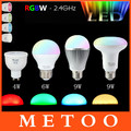 Smart Mi Light Milight GU10 E27 Led Lamp 110V 220V 2.4G Wireless RGB 4W/6W/9W PAR30 LED Light Dimmable Bulb Lampada Bombillas