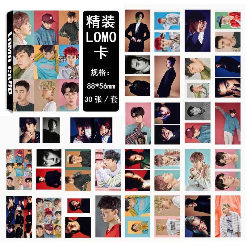 Kpop EXO same paragraph collective models EX'ACT LOMO card set 30 box set K-pop do Photos card Book Gift souvenir Sticker Poster