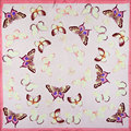 100% Silk Scarf Women Scarf Butterfly Scarf Silk Bandana 2017 Top Hot Selling Print Small Square Silk Scarf Luxury Gift for Lady