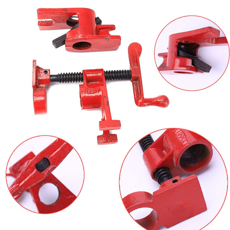 Heavy Duty Pipe Clamp Woodworking Wood Gluing Pipe Clamp 3/4
