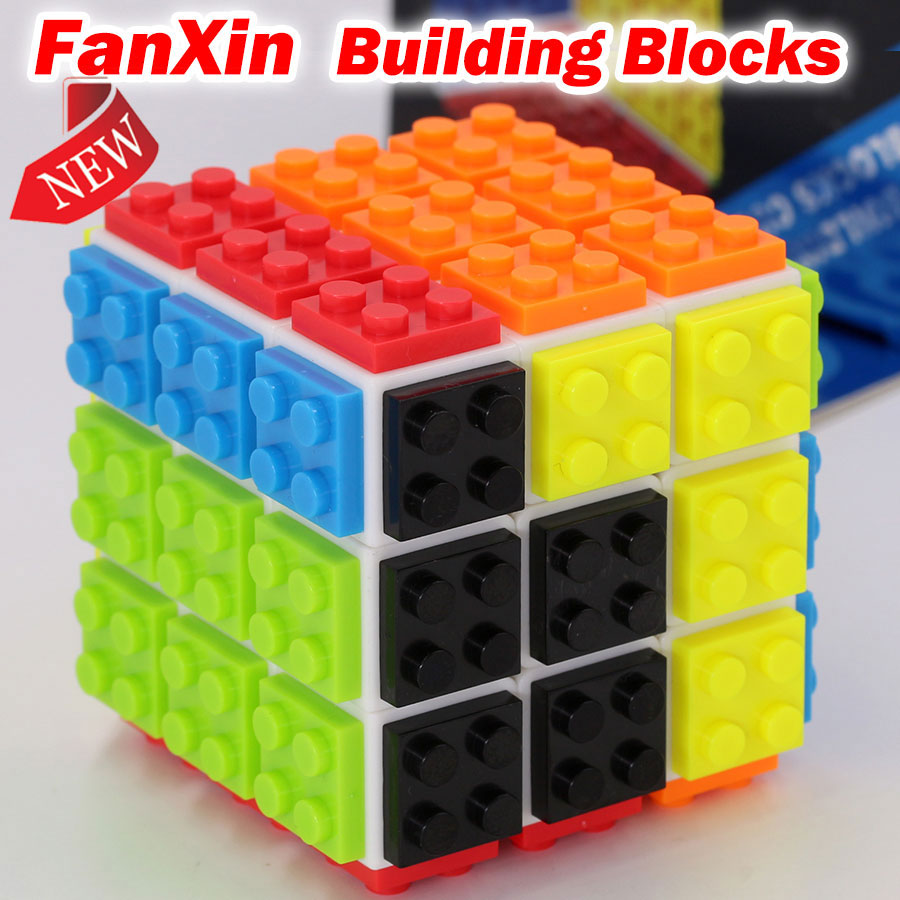 Puzzle Magic Cube FanXin Building Blocks Cube 3x3x3 3*3*3 Speed Cube Professional Easy Learning Educational Logic Game Toys Gift