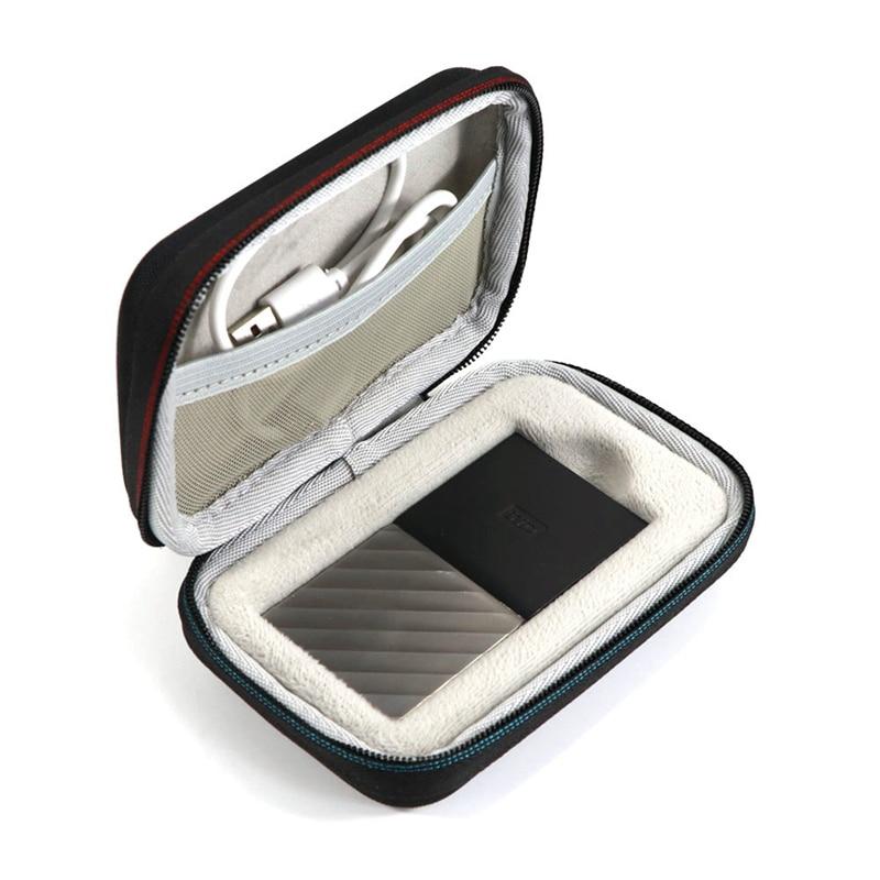 EVA Жесткий Чехол для WD My Passport SSD Портативный для хранения 1 ТБ& 2 ТБ& 256 ГБ и 512 ГБ путешествия защитный чехол-сумка для хранения