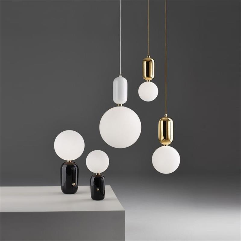 Postmodern simple pendant lights metal glass dining room bar window personality creative exclamation led pointpendant lamps exclamation point свитер
