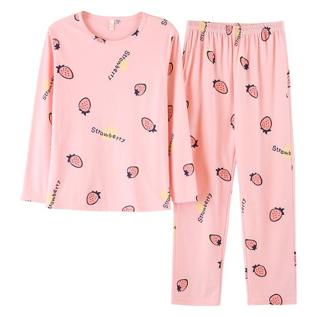 268224c3257656 R$ 88.45 27% de desconto|Plus size mais novo dos desenhos animados pijamas  mulheres pijama feminino da Longo luva pijamas primavera e no outono ...