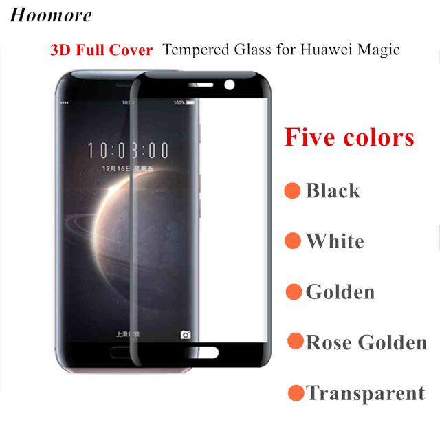 Hoomore para huawei honor magia vidrio templado película de pantalla completa cobertura curva 3d protector delantero de la pantalla para huawei honor magia