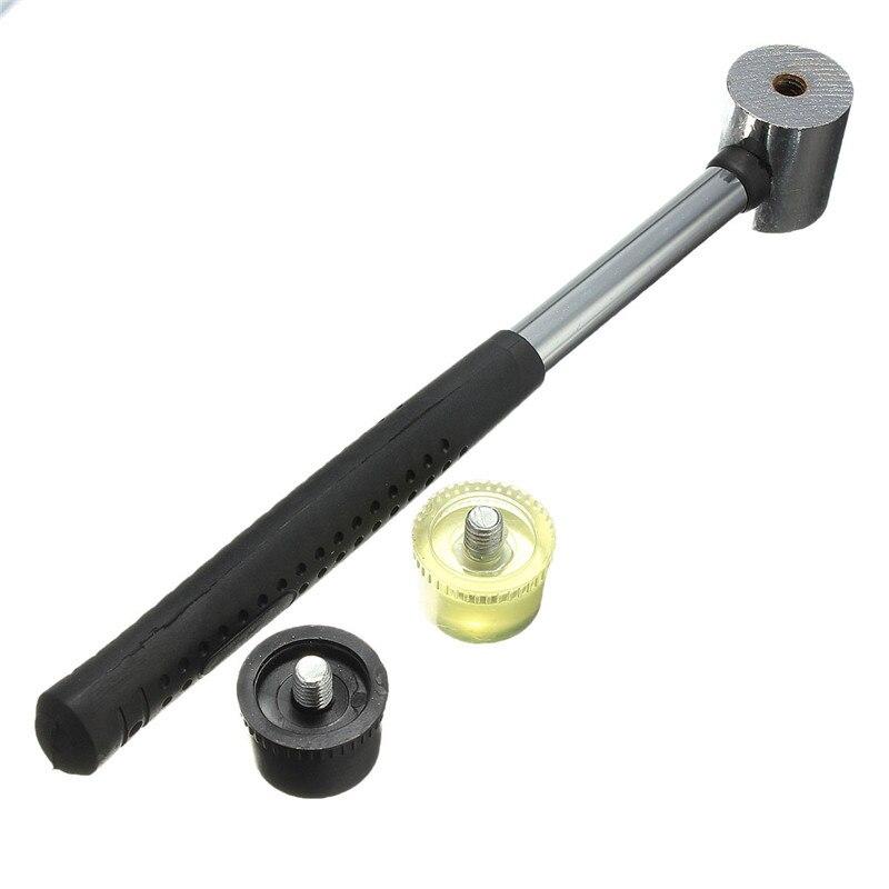 Gummi Hammer Doppelseitige Arbeit Verglasung Fenster Perlen Mallet Werkzeug  ^