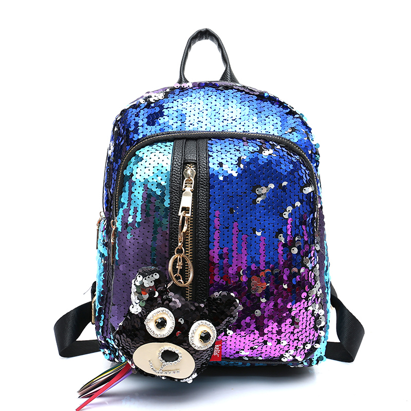 2018 Fashion Cartoon Cute Girls Sequins Backpacks Womens Paillette Leisure School Book Bags Female Mochila rugzak Mujer Borsa womens fashion cute girls sequins backpack paillette leisure school bookbags leather backpack ladies school bags for teenagers