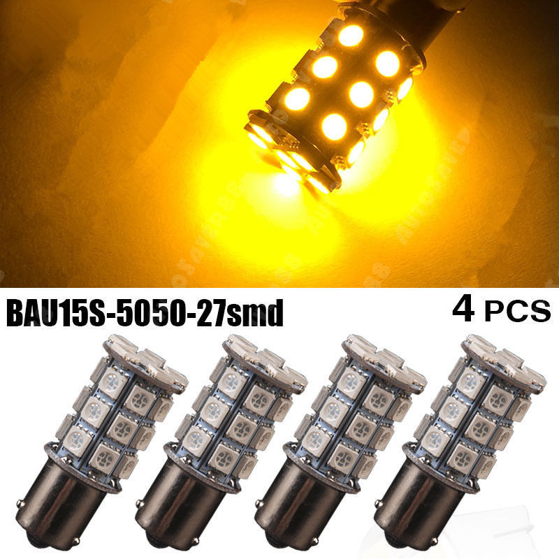 4X 1156PY BAU15S 7507 5009 PY21W 5050 27-SMD LED Yellow Amber Brake/Backup/Tail/Turn Signal LED Light Lamp Bulbs 1156 BA15S P21W jerome j sketches in lavender blue and green isbn 9785521070893