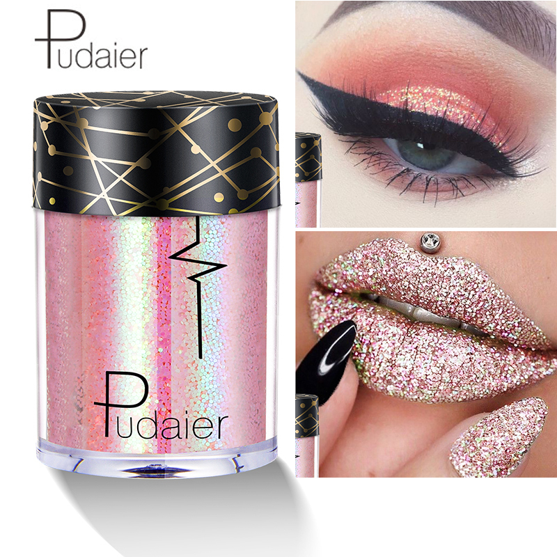 Glitter Eyeshadow Metal Loose Powder Laser oogschaduw Festival Tattoo Makeup imagic Pigment Shimmer and Shine Party Eye Shadow in Eye Shadow from Beauty Health