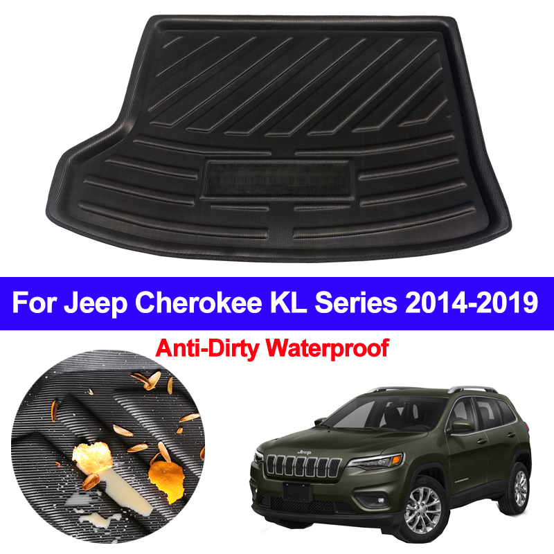 For Jeep Cherokee KL Series 2014 2015 2016 2017 2018 201 Car Rear Trunk Mat Cargo Tray Boot Liner Carpet Protector Floor Mats