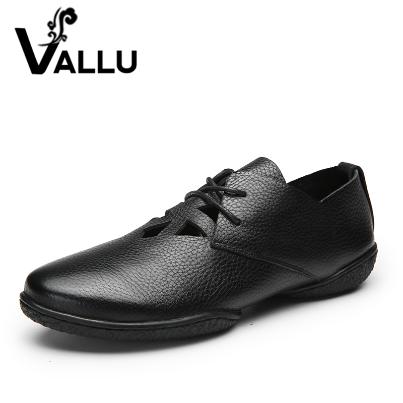 Super Soft Women Shoes Fretwork Casual Flat Shoes Woman Genuine Leather Lace-Up Handmade Breathable Lady Flats Plus Size 41-42