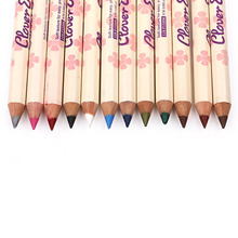 M.n Menow Brand Wood pattern 12 color eye shadow eyeliner Make up waterproof Long lasting cosmetic P15006