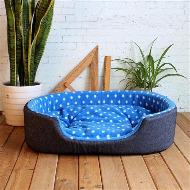 Luxe Pluche  Hondenbed kleur blauw 1