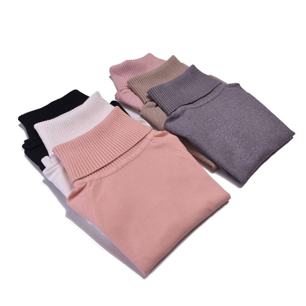 Marwin 2019 automne hiver épais col rabattu haute élasticité pulls décontractés femme épais col roulé tricoté femmes pull