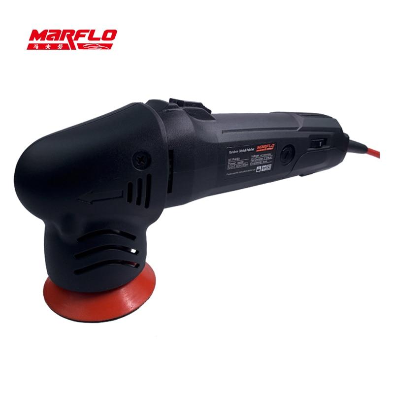 MINI Car Polisher Detailing Polishing Machine Eccentricity 80mm Dual Action Polishing Waxing Tools 6 Speed Marflo