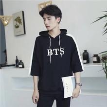 BTS Hooded Short Sleeve Shirt