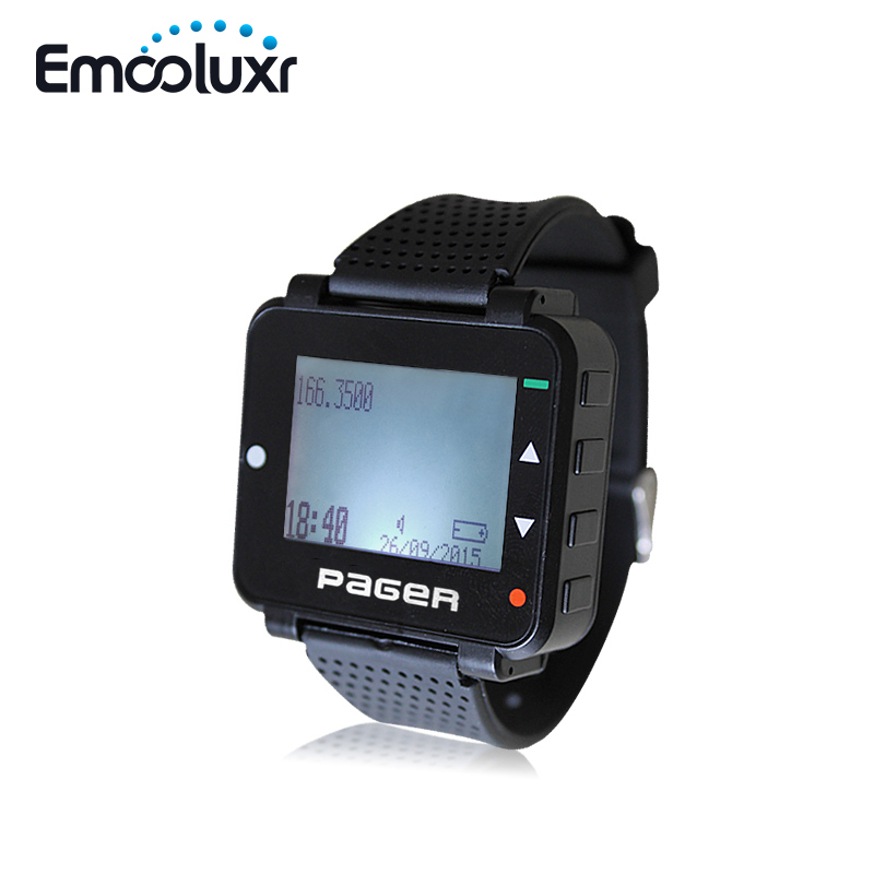 Wireless Wrist Watch Pager Text Message Numerical MessageWireless Calling System