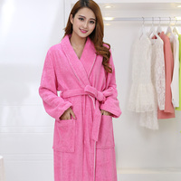 AZO Free Top Grade Women's Terry Cotton Robe long thickness Soft home hotel Bathrobe