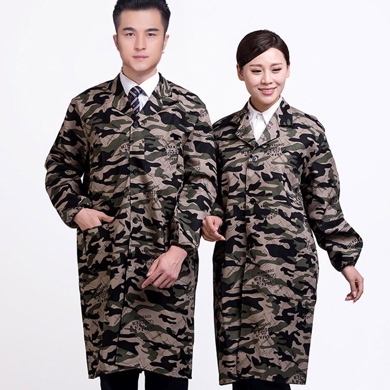 Spring Autumn Men Women Jacket Camouflage Pockets Military Camo Coat -MX8