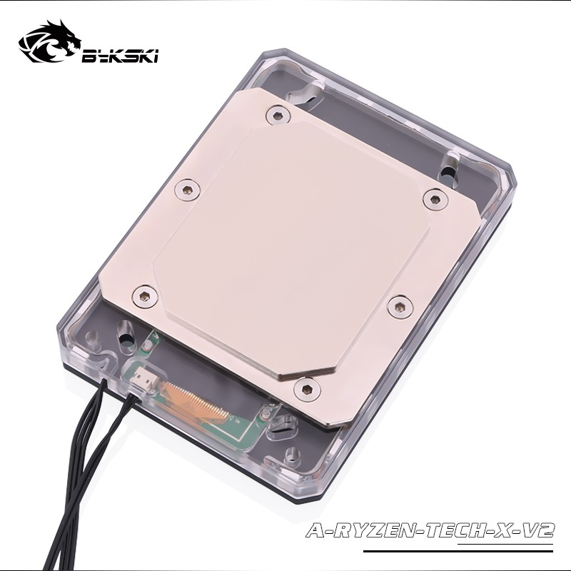 Image 4 - Bykski CPU Water Copper Block use for AMD RYZEN3000 AM3/AM4/TR4/1950X/X399 X570 Motherboard 5V A RGB Temperature Display OLED-in Fluid DIY Cooling from Computer & Office