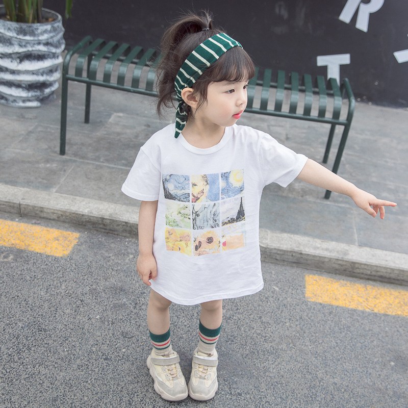 Young girl 39 s T shirt summer new Korean version of children 39 s short sleeved versatile T shirt baby casual cotton clothing in Tees from Mother amp Kids
