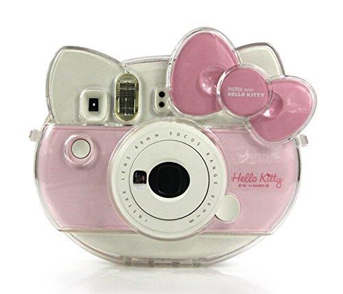 цена на Fujifilm Instax Mini Hello Kitty Camera Transparent Crystal Case PVC Protector Instant Film Camera Shell Cover