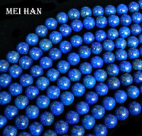 Free Shipping Natural A Lapis Lazuli 10mm Smooth Round Gem Beads For Jewelry Making