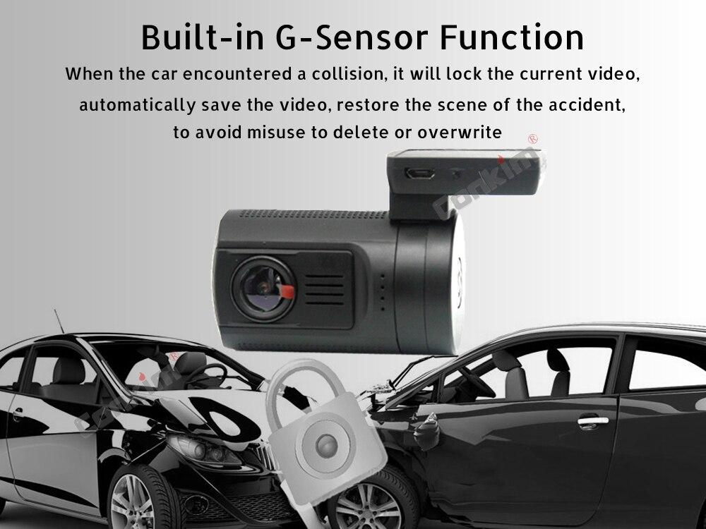 Conkim Mini 0906 Two Camera GPS Car DVR Registrar 1080P Full HD Rear View Camera Capacitor Dual Lens DVR Parking Guard Sensor 13