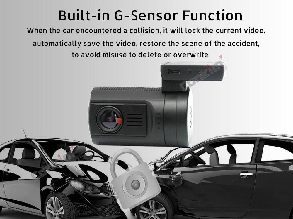 Conkim Dual Lens Car Dash Camera GPS DVR Front 1080P FHD+Rear Camera 1080P FHD Parking Guard Motion Detect Mini 0906 Novatek Cam 12