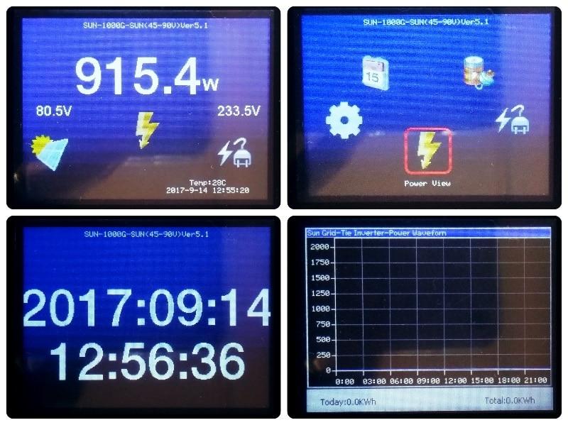 Image 3 - 2000W Battery Discharge Power Mode/MPPT Solar Grid Tie Inverter 2KW with Limiter Sensor DC 45 90V AC 220V 230V 240V PV connectedInverters & Converters   -