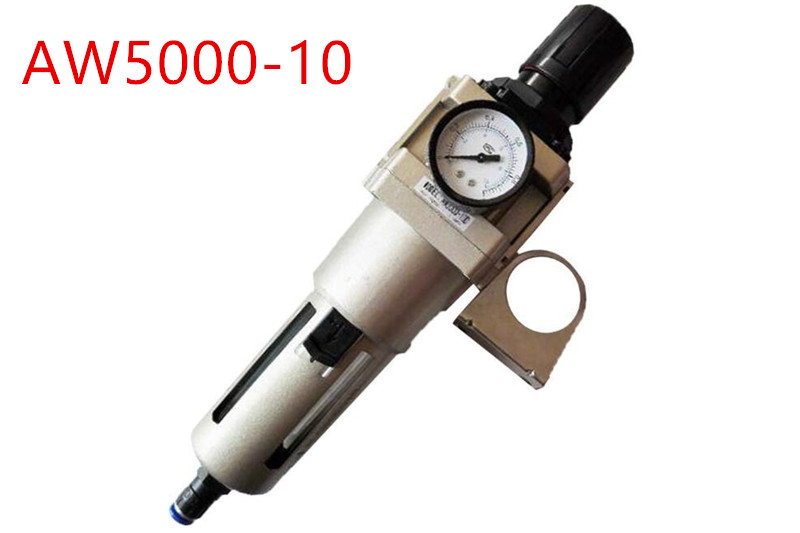 SMC Type AW5000-10 Manual Drainage Pneumatic Air Filter And Pressure Regulator Unit 1 Inch With Cover Manual Drain Air Treatment smc type pneumatic air filter regulator aw3000 02