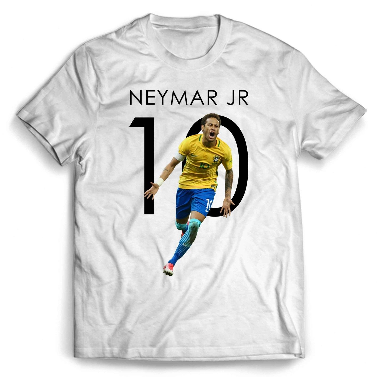 Tops & Tees T-shirts Top Quality 2018 New Brand Neymar Footballer Soccerite Brasil T-shirt Celebrity Star One In The City