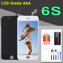 "AAA איכות 4.7 ""אינץ תצוגת עבור iphone 6S LCD מסך מגע Digitizer עצרת החלפה עם מצלמה טבעת & משלוח כלים A1688"