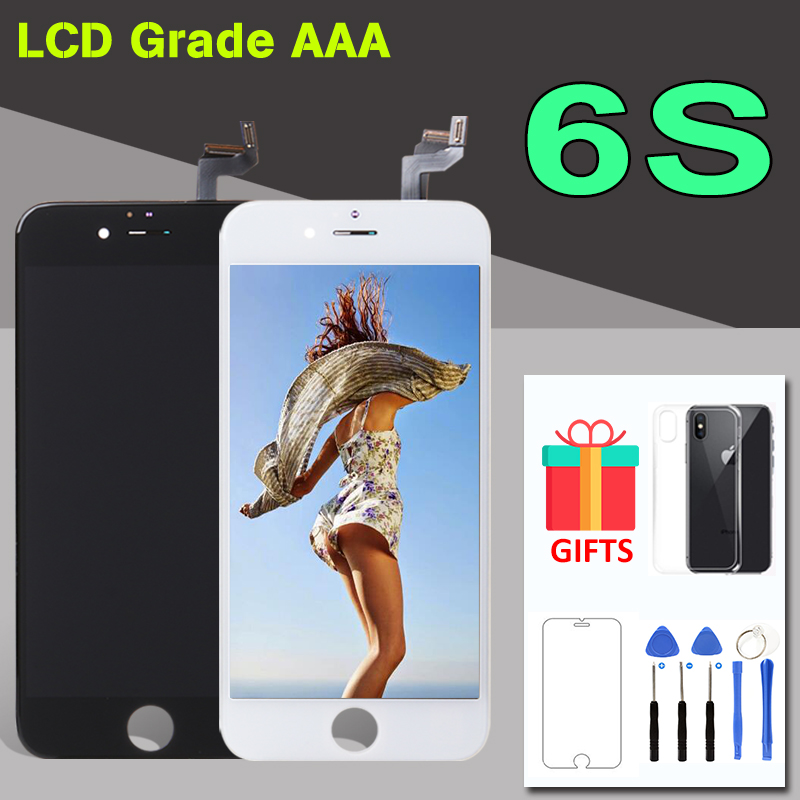 AAA Quality 4.7 inch Display For iphone 6S LCD Touch Screen Digitizer Assembly Replacement with Camera Ring & Free Tools A1688 image