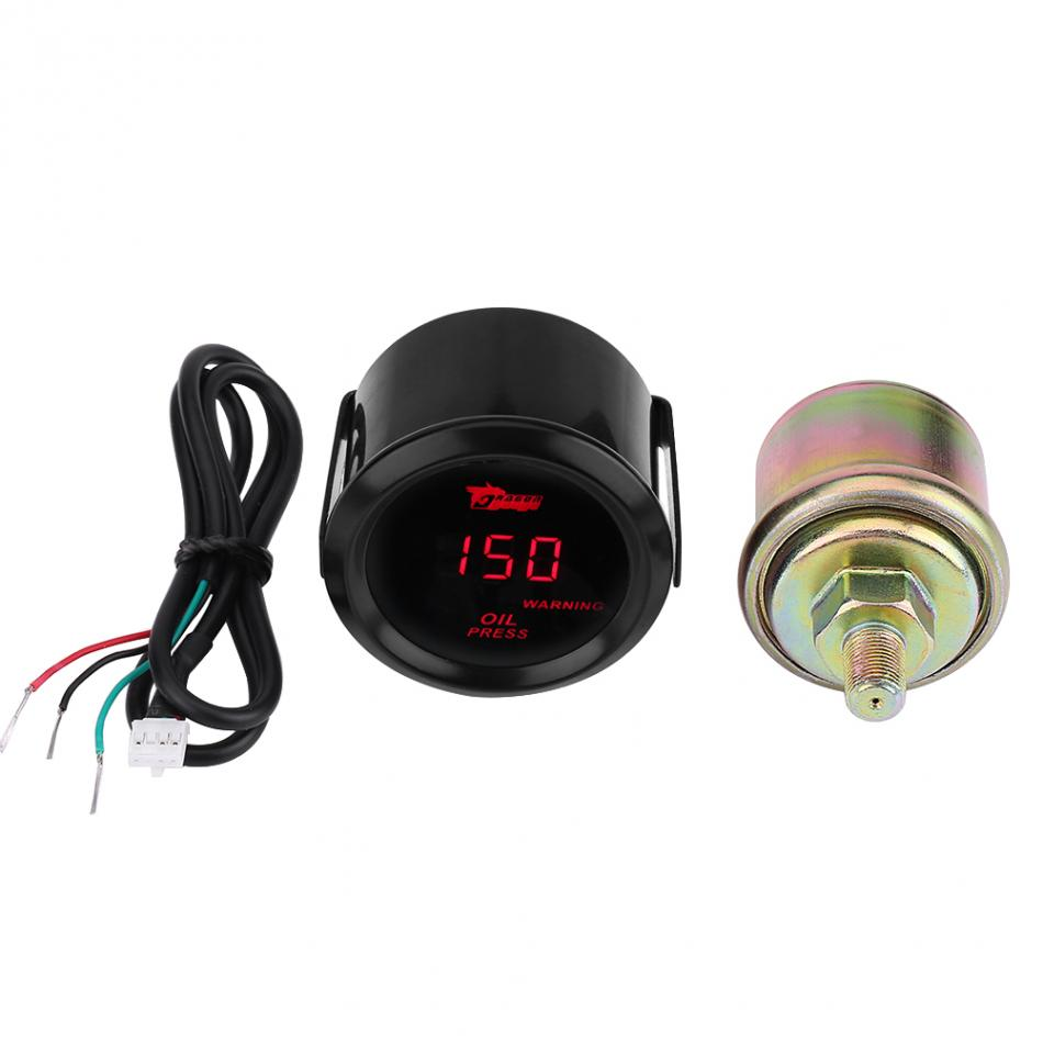 2 Inch 52mm Car Truck Universal Digital Red Led Psi Oil Press Gauge With Sensor Digital Oil Pressure Gauge Auto Parts Do You Want To Buy Some Chinese Native Produce?