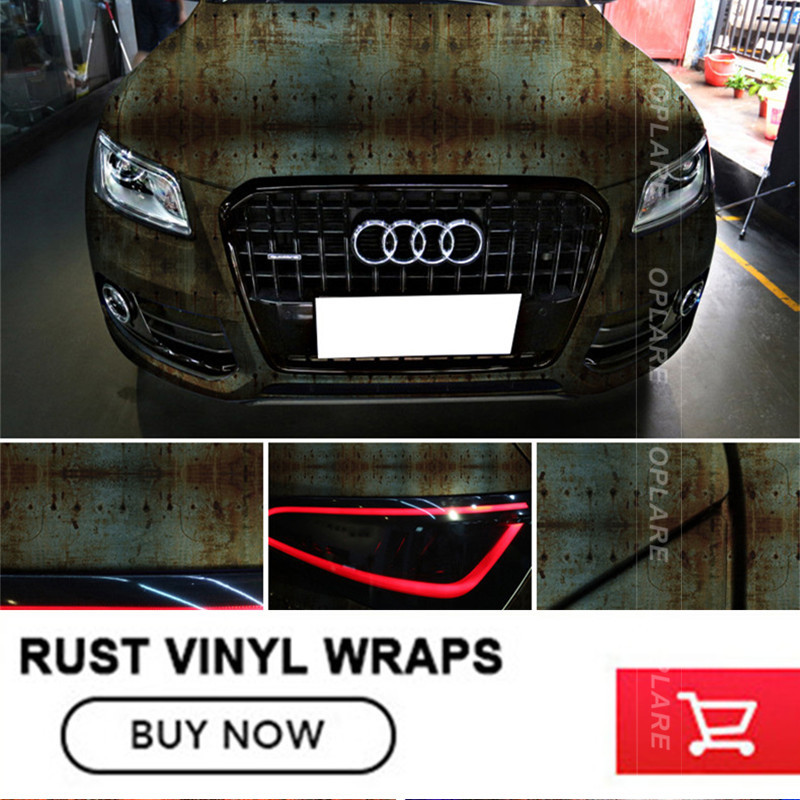 OPLARE New Auto Styling Iron Rusting Colored Rusty Style Car Body Sticker Bomb Wrap Vinyl Rust Doomsfree shipping