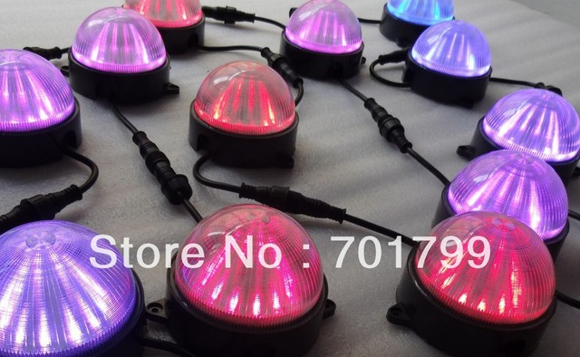 DC24V WS2811 round type pixel module,12pcs 5050 SMD rgb led inside,2.88W,IP68;100mm diameter;strip cover