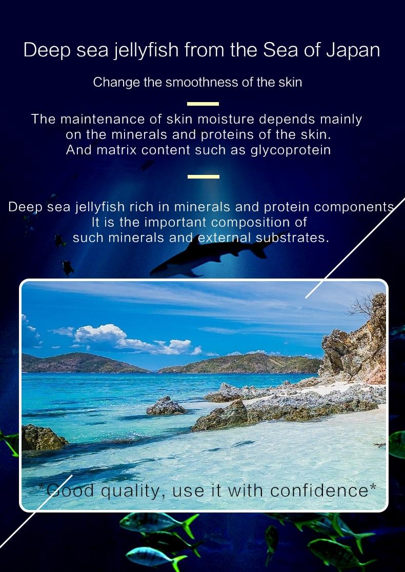 mar profundo proteína clareamento da pele iluminar