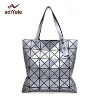 Famous Brands Women BaoBao Bag Laser Geometric Diamond Shape Patchwork Tote Women Shoulder Bag Casual Tote