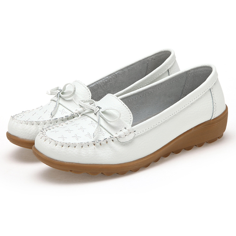 Plus Size Women Flats 2017 Women Shoes Loafers Genuine Leather Moccasins Soft Driving Shoes Autumn Ballet Women Flats designer women loafers flower genuine leather shoes ladies moccasins ballet flats round toe casual zapatos mujer size 35 44
